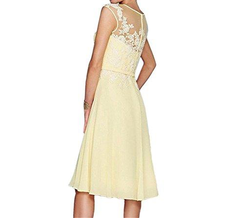 HWAN Damen A Line Applikationen Kurz Mutter der Braut Kleid mit Jacke Bolero Fuchsie