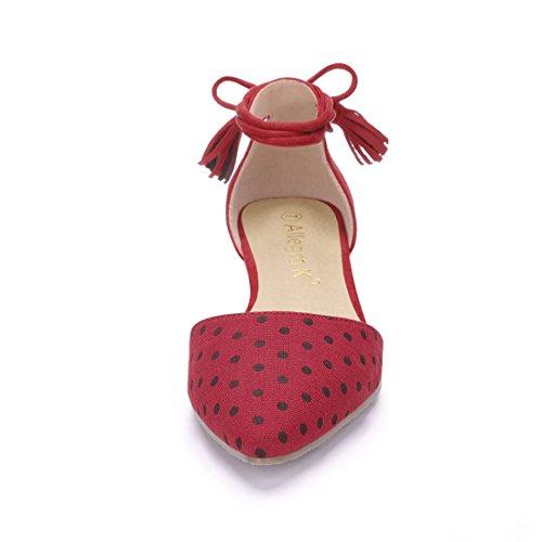Allegra K, Scarpe da camminata donna Red