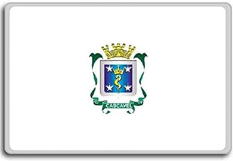 Brazil, Paraná State, Cascavel City flag fridge magnet - Aimant de réfrigérateur