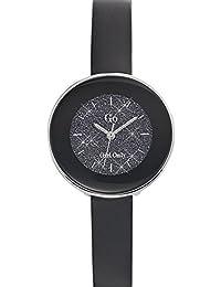 Go Girl Only Damen-Armbanduhr 698586–Quarz–Analog Zifferblatt schwarz Armband Leder schwarz