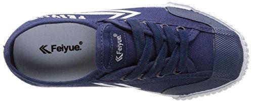 Feiyue Fe Lo Classic, Baskets Basses Mixte Enfant Bleu (Navy/White/Gum)