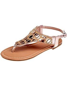 Sandalias para Mujer Verano 2018 PAOLIAN Bohemia Zapatos de Plano Playa Fiesta Sandalias y Vestir del Dedo del...