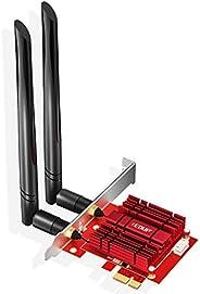 EDUP PCIE WiFi 6 Bluetooth Adapter Bluetooth 5.1 Wi-Fi Card Heat Sink AX 3000Mbps AX200 Dual Band 5.GHz/2.4GHz