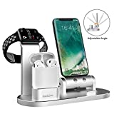 GHQ 4 In 1 Telefon Wireless Lade Apple Watch Ladeständer Halter Iwatch Ladestationen Handy Ladestation Für Apple Watch Serie 3/2/1 / Airpods/iPhone X / 8/8 Plus / 7/7 Plus / 6S / iPad