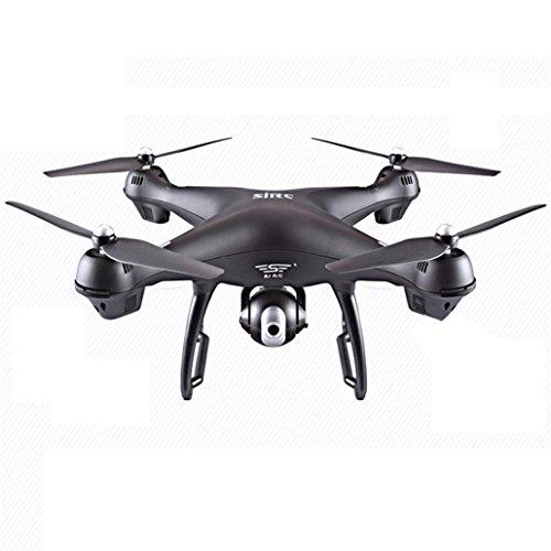 bescita Quadrocopter Drohne mit 1080P HD Videokamera 2.4G Fernsteuerung FPV live übertragung, Headless Modus,Höhenhaltung,Home Return,WLAN-Kontrolle (Schwarz)