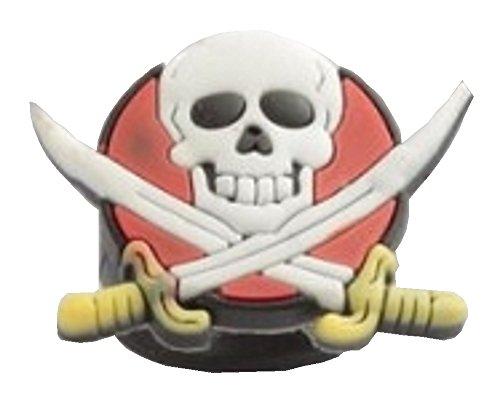Schwert und Totenkopf Ring, Gummi verstellbar Halloween Ring, inkl. Geschenkbeutel