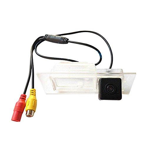 Navinio Colore telecamera di retrovisione con linee di griglia come luce targa, sensore di parcheggio Nero per 2015-2016 Renegade