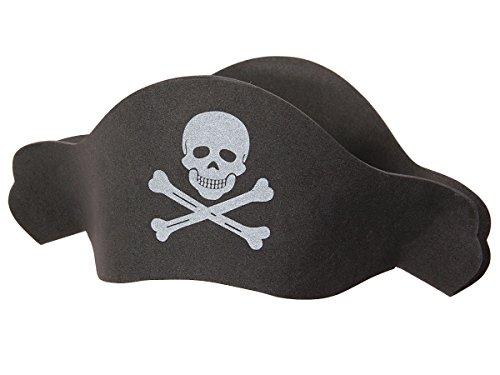 Alsino Piraten Hut Herren Damen Ph-04, Farbe: schwarz - mit Totenkopf (Damen Hüte Piraten)