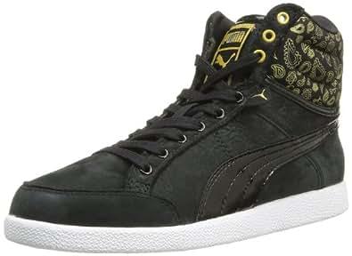 Puma Ikaz Hi Paisley Wns, Baskets mode femme - Noir (Black/Team Gold/White), 36 EU