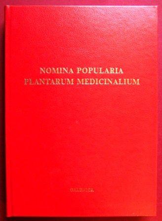 Nomina Popularia Plantarum Medicinalium - Rpertoire des plantes mdicinales