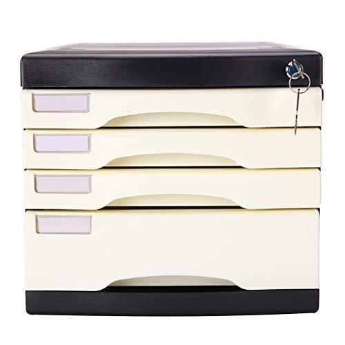 Ordnerregale Aktenschrank mit Schloss vierschichtiger Aktenschrank-Speicherkabinett-Fachaktenschrank Bürobedarf & Schreibwaren