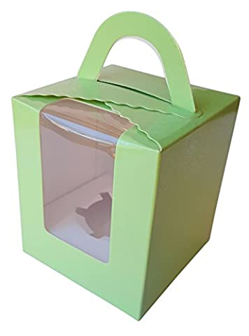 Ibex Single Cupcake Box grün 10Stück (Single Cupcake Box)
