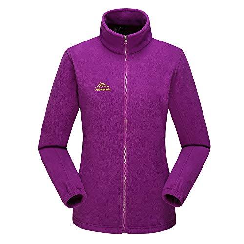 Damen Outdoorjacke Warm Soft Shell Jacke Fleecejacken Frauen Herbst Winter Outdoor Verdicken Stehkragen Fleece Sport Mantel von Innerternet