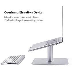 Laptop Stand, Notebook 360 ° con supporto girevole Notebook 10 ~ 17 pollici - Argento