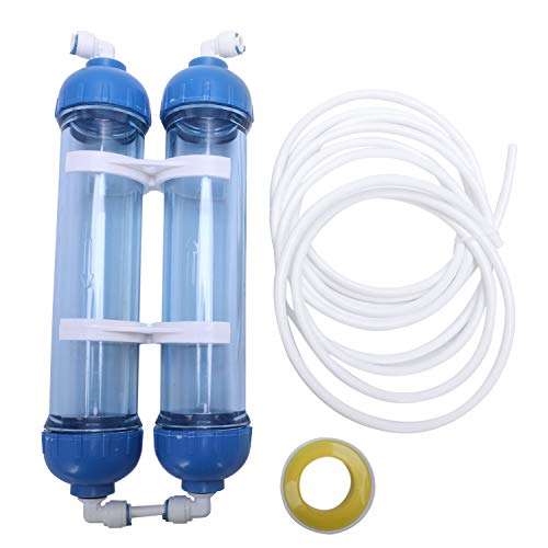 Wasser-umkehr-osmose-system (TOOGOO Wasser Filter 2 Stuecke T33 Patronen Gehaeuse DIY T33 Schale Filter Flasche 4 Stuecke Armaturen Wasser Filter Fuer Umkehr Osmose System)