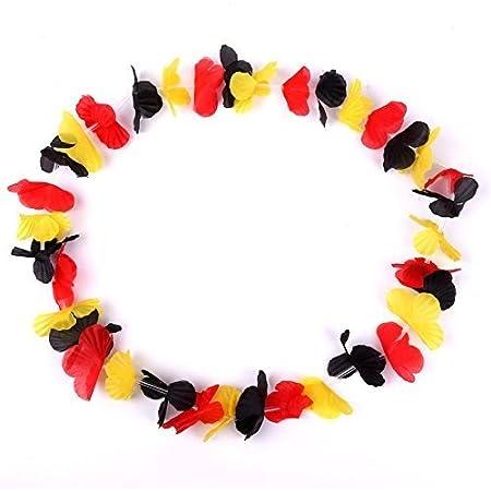 Schramm® 50 Stück Blumenketten Deutschland Blumenkette Hawaiikette Hawaiiketten Hawaii Kette