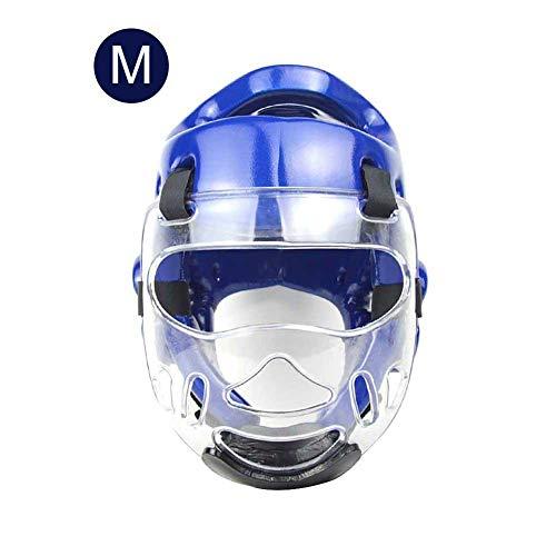 thorityau Schutzhelm Und Maske,Karate Taekwondo Schutzkopf Gesicht Integrierte Form Sport Kopfbedeckung Helm, Die Maske Ist Abnehmbar