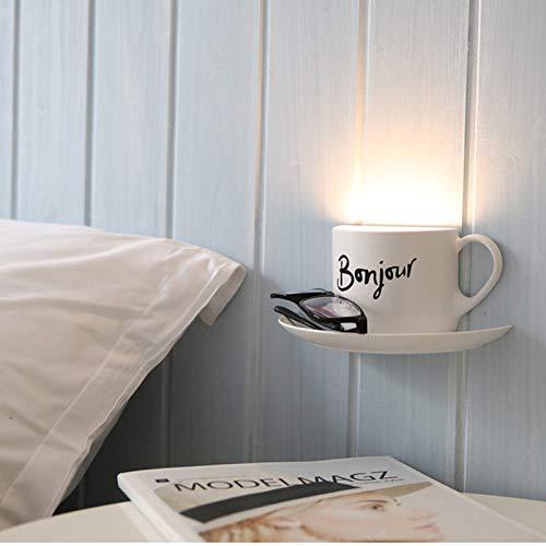 BOOTU LED Wandleuchte nach oben und unten Wandleuchten Cup-Led Light Control Kunststoff glow-in-Gebühr von Tasse Glas Wandleuchte Licht Nacht Licht Kaffee Tasse helle, in warmen Gelb Bonjour, 0,5
