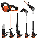 Black + Decker BCASK8967D2GB Seasonmaster Cordless Multi-Tool with Hedge Trimmer, Strimmer, Chainsaw