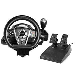 Tracer Viper Lenkrad mit Gas- und Bremspedale PS3/PS2/PC/X-INPUT/D-INPUT