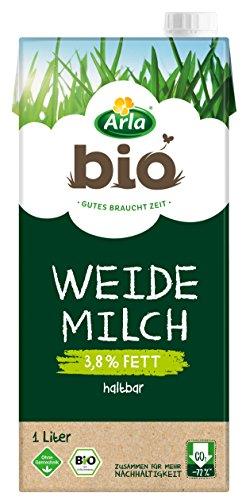 Arla BIO Haltbare Weidemilch 3.8% Fett, Bio H-Milch aus artgerechter Tierhaltung, 1 l