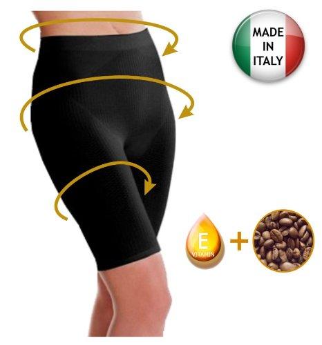 pantaloncino-corto-anticellulite-guaina-contenitiva-snellente-con-caffeina-vitamina-e-nero-tg-s