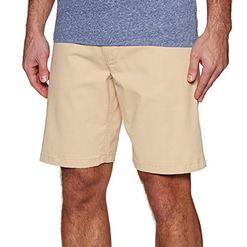 Rip Curl Traveller Walkshort Herren,Chino Shorts,Kurze Hose,Bermuda,Stretch-Material,Zwei Taschen,Beige,32 - Herren Traveller Hose