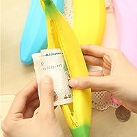 ewfsef Creative portátil silicona Banana Moneda estuche cartera monedero bolsa de bolsa  amarillo