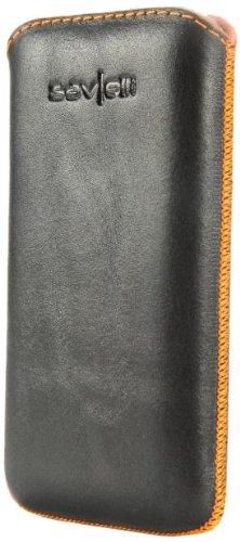Savelli Savelli 25XL-01-G11 Lentini Ledertasche für Smartphone schwarz/orange