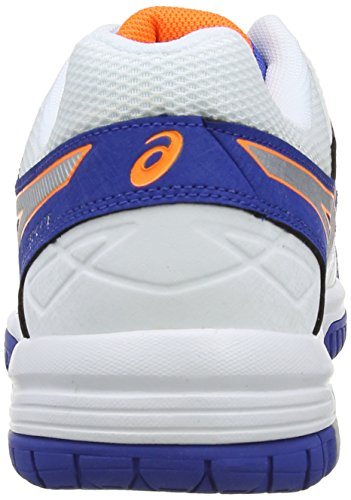 Asics Gel-Dedicate 4, Scarpe sportive, Uomo Blue/Silver/Flash Orange 4293