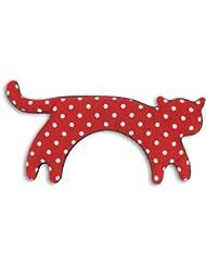 Leschi | Almohadilla de calor (para las cervicales y los hombros) | 36794 | La gata Minina | de pie | grande | Color: Rojo con lunares / Medianoche