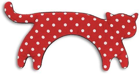 Leschi | Coussin chauffant (nuque et épaules) | 36794 | Minina le Chat | debout | grand Couleur : Rouge à pois / Minuit