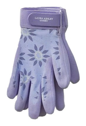 Laura Ashley 3A101183 All Weather Garden Glove, Roundswood Pale Lavender, Large