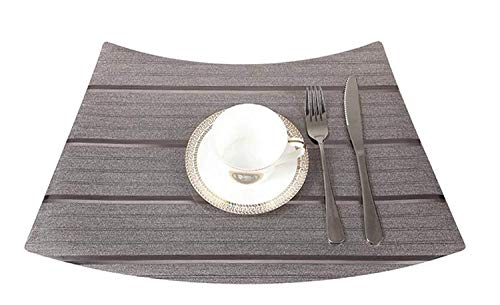 (SEBAS Home Matte PVC Tischdecke Wasserdichte Western Tischset Druck Home Hotel Table Coaster_TD248 Dark Coffee 33x51 cm)