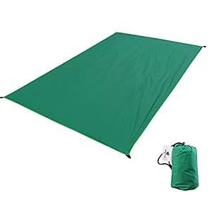 GEERTOP Zeltböden Schutzplane Zeltplanen Zeltunterlage Wasserdicht 2 Personen (190g) 20D Ultraleichte Wasserdichte Für Zelt Wanderungen Camping Picknick (Grün, L (210x130cm)