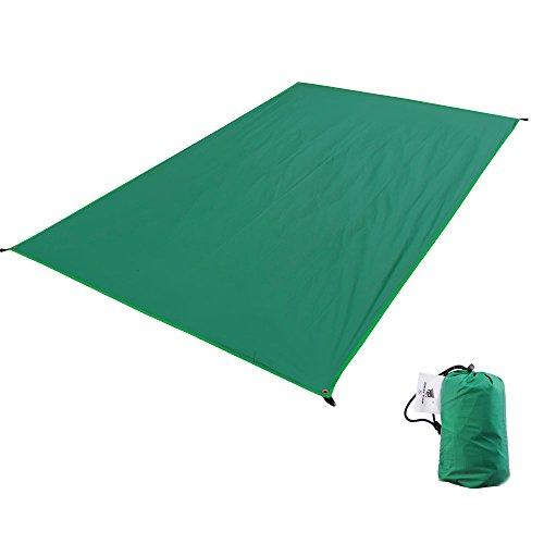 GEERTOP Zeltböden Schutzplane Zeltplanen Zeltunterlage Wasserdicht 4 Personen (390g) 20D Ultraleichte Wasserdichte Für Zelt Wanderungen Camping Picknick (Grün, XXXL (210x260cm)