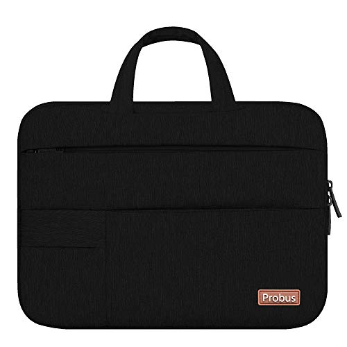 Shopizone® Slim Traveller Sleeve Bag for 14 inch Laptop/Notebook/Chromebook/MacBook - Black