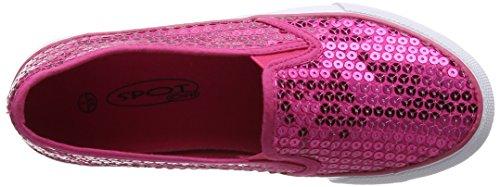 Spot on Mädchen H2365 Sneaker Pink (Fuchsia)