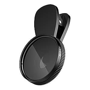 AUKEY Lente Smartphone Polarizzatore Circolare Obiettivo CPL Filtro per Ridurre la Riflessione della Luce Clip On per iPhone SE / 6s / 6s Plus / Samsung Galaxy / Huawei / LG ecc.