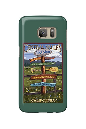 Price comparison product image Fresno,  California - Destination Sign (Galaxy S7 Cell Phone Case,  Slim Barely There)