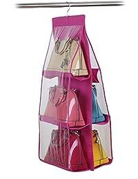 Simxen 6 Pocket Large Clear Hanging Storage Bag (Multicolour)