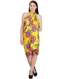INDIAN FASHION GURU Women's beautiful beach wear sarong, pareo, wrap swimsuit cover up