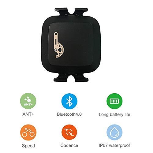 CooSpo Trittfrequenzsensor Ant+ Bluetooth Fahrrad Speed Cadence Sensor Wasserdicht Ant+ Sensor für iPhone, Android