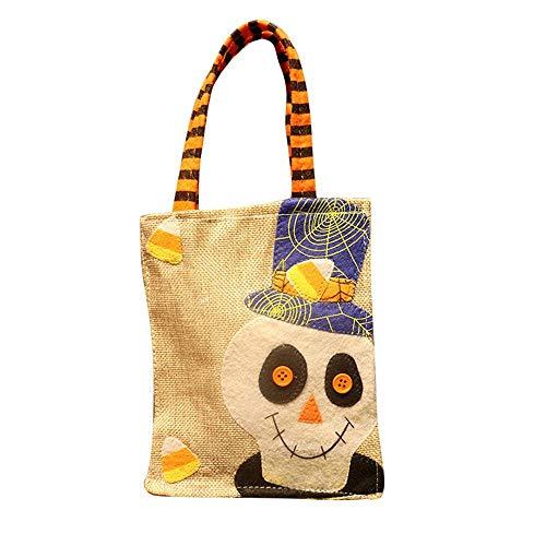 (AOLVO Halloween-Süßigkeiten-Tasche, Kürbis-Tragetasche, für Damen, Übergröße, lässige Schultertaschen für Kinder, Cartoon-Design, Baumwolle, Leinen, 3D-Kürbis-Handtaschen, 1 Stück Hundred Ghosts)