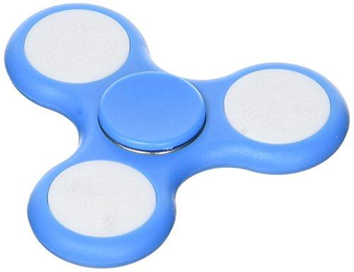 Mobee fidget spin led–giocattolo a mano anti-stress–blu