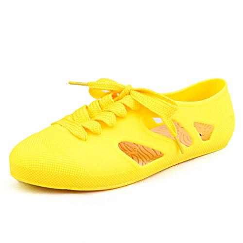 ShenDuo Damen Clogs & Pantoletten Candy Sandalen mit Schnürsenkel D8020 Gelb