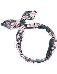 7aa94546a394ec Neu Mädchen Hasenohren Faltbar Stahldraht Stirnband, LEEDY Damen Niedlich  Süß Weich Kopfband Haarreif Stirnbänder.