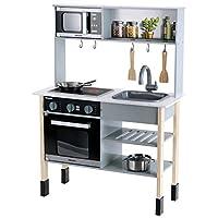 Theo Klein 7199 Toy Kitchen, Miele, Wood (MDF), White, midi, Multicolour
