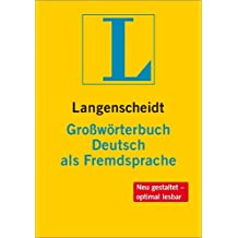 Langenscheidt Großwörterbuch Deutsch als Fremdsprache - Buch (kartoniert): einsprachig Deutsch (Einsprachige Wörterbücher)