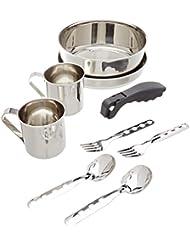 Set de Cocina de Laken de Acero Inoxidable 20CM con Funda de Neopreno Cámping Mess Kit Para 2 Personas